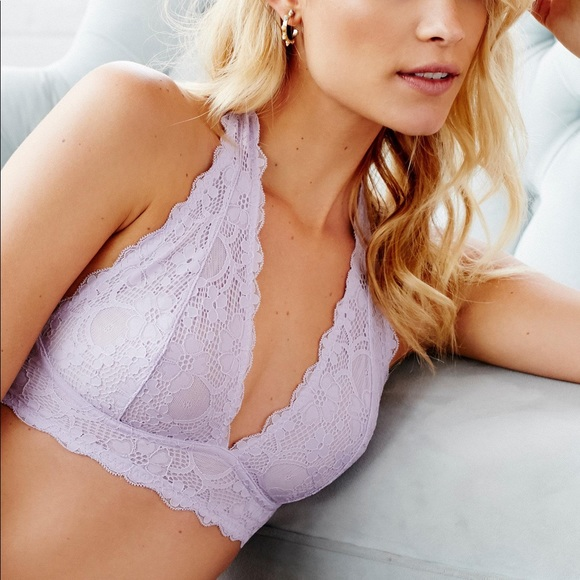 673b42278e Free People Other - Free People Galloon Lace Halter Bralette in Lilac